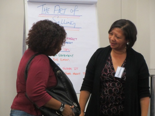 A volunteer facilitating a session.