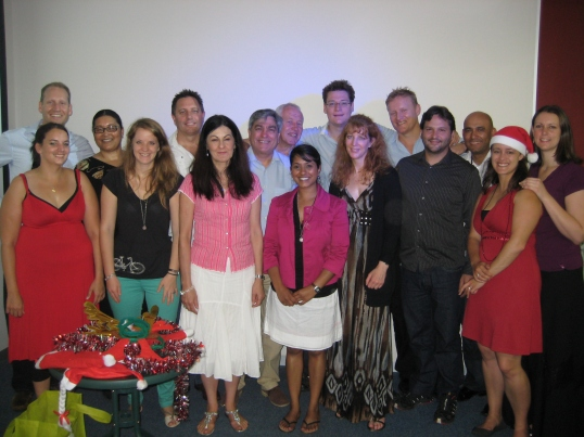 The Paradigm Shift volunteer team at December's graduation ceremony.