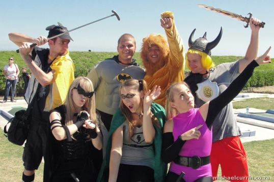 Superheroes unite for a good cause