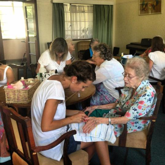 Pampering and storytelling in action at Huis Luckhoff