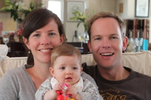 Kevin with his wife, Claire, and their daughter, Sierra.