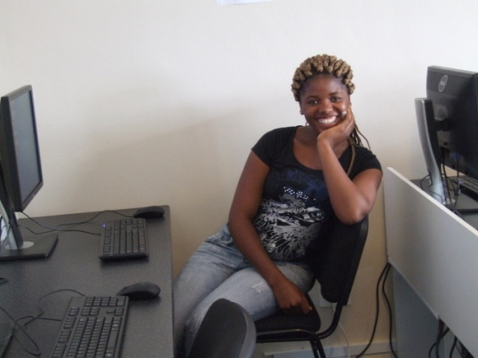 Student Sinazo Mwehle, 23, is hoping this course will help her to find a job