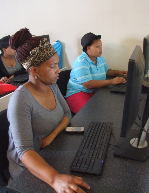 In the beginners course, students learn how to browse the internet, set up an email account and use MS Word